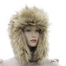 -Faux Fur Hat Beige-2