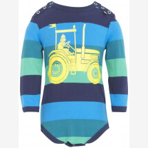 -Danefae Green and Navy Large Yellow Tractor Body-21
