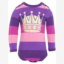 -Danefae Purple-Pink Striped Body with Gold Crown-21