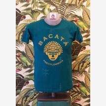 -100% Cotton T-Shirt Turquoise / Gold Unisex-2