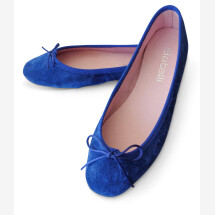 -Ballerinas Classic Blue Royal blue suede Batelli-21