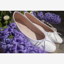 -Ballerinas white smooth leather Batelli Ballerina white white-22