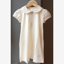 -Naturapura baby christening gown with collar made of 100% organic cotton ecru-21