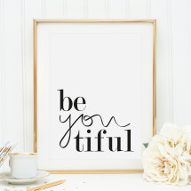 -Tales by Jen Art Print: Be you tiful-21