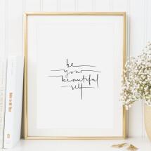 -Tales by Jen Art Print: Be your beautiful self-20