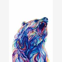 -Bear signed gesso print-21