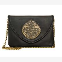 -MANUELA Exclusive Black Leather Crossbody / Clutch Handbag-25