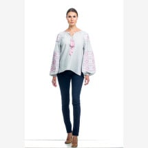 -Embroidered linen blouse-21