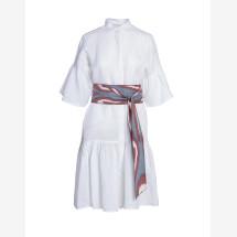 -Larissa linen dress with ikat belt-21