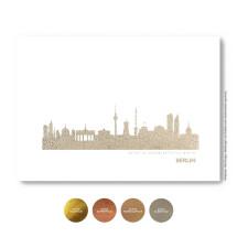 "-Kunstdruck Skyline ""Berlin"" in Silber Stadt wählbar-2"