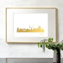 -Artprint Bremen in gold-2
