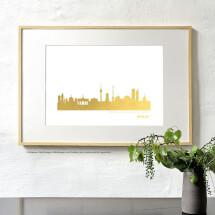 -Artprint Bremen in gold-2