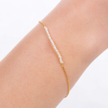 -Delicate gold-plated bracelet with mini pearls-21
