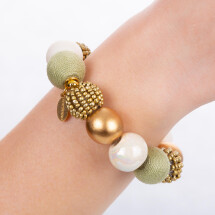-Pearl bracelet Light Golden Nature made of a noble material mix-21
