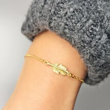 -Bracelet with spring motif gold plated-20
