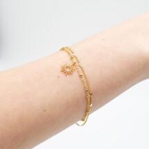 -Fine double row bracelet with mini sun gold-plated BG 9828g-23