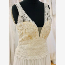 -Boho A line wedding dress-21