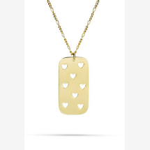 -Heart necklace gold-21