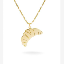 -Croissant Necklace Gold-21