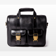-WILL Small Black Leather Satchel-21
