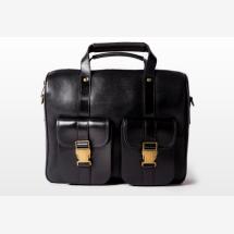 -WILL Medium Black Leather Satchel-21