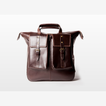 -MURPHY Large Brown Leather Backpack-21