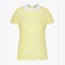 -Yellow and white top with a collar-21