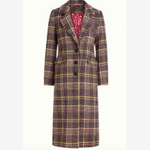 -Colorful winter coat with a houndstooth pattern-21