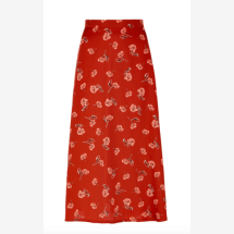 -Cinnamon-colored skirt with a floral pattern-21