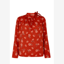 -Cinnamon-colored blouse with a floral pattern-21