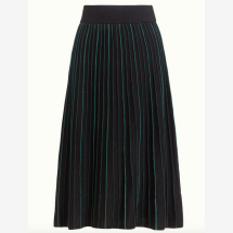 -Green-black knitted skirt in midi length-21