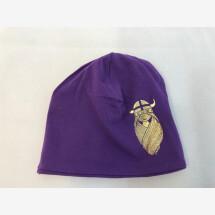 -Danefae purple striped jersey hat with Freja in gold-21