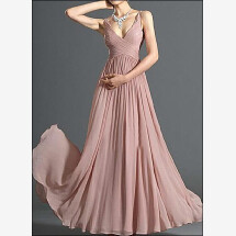 -Evening dress made of chiffon v-neck-21
