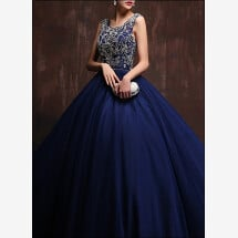 -Blue ball gown with corset and free back-23