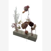 -Dried flowers wooden strip rosé-bordeaux-2