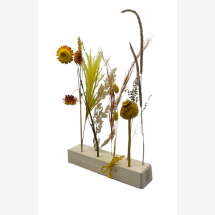 -Dried flowers wooden strip yellow-natural-2