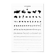-World Countries by Size Poster-21