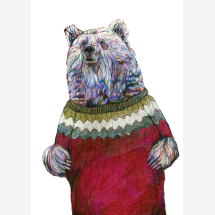 -Brian the Bear signed gesso print-21