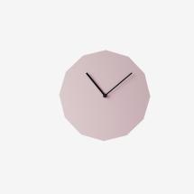 -Neo / Craft Pink Twelve Sided Wall Clock-21