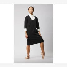 -Business dress made of organic cotton black-21