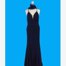 -Night blue maxi dress with light glitter-21