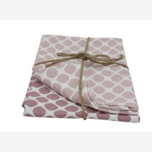 -Tea towel set in two different shades of pink with polka dots-21