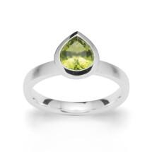 -Peridot ring silver-21