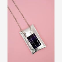 -Mobile phone case silver with chain-21
