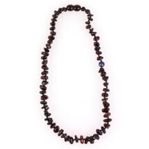 "-Children amber beads with lapis lazuli stone ""Energy""-21"