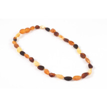 -Children variegated amber beads-21