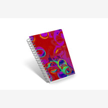 -Notebook diagonal and beautiful Trapez16 circle in red-20