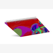 -Notebook diagonal and beautiful Trapez22 circle in red-20