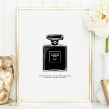 -Tales by Jen Art Print: Coco Noir Perfume Bottle-21