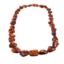 -Cognac-color amber necklace-21